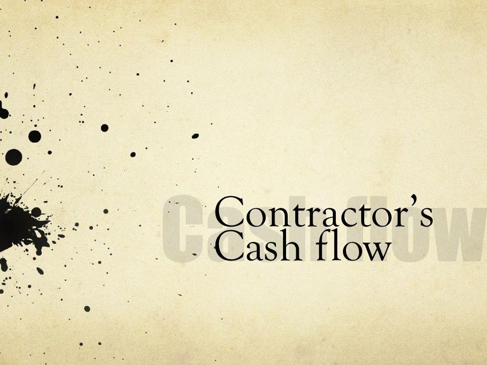 Contractors Cash flow