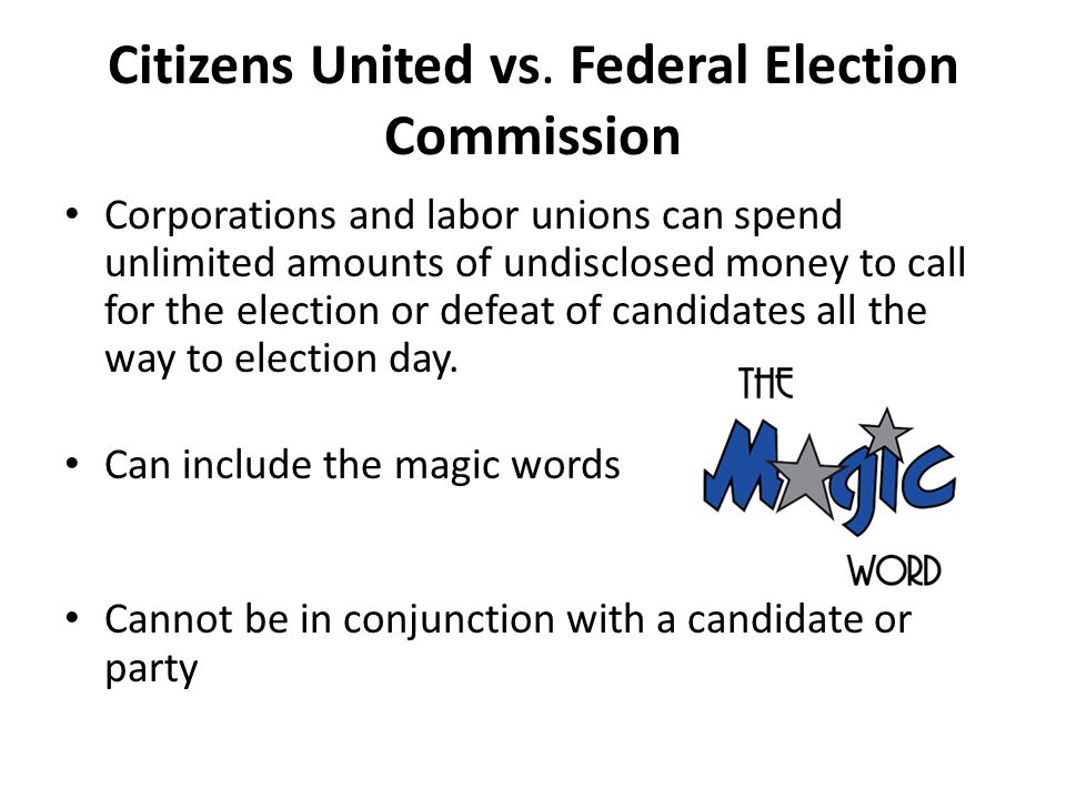 Citizens United vs.