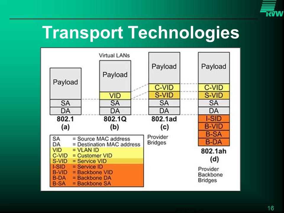 ©2006 RVW, Inc. 16 Transport Technologies
