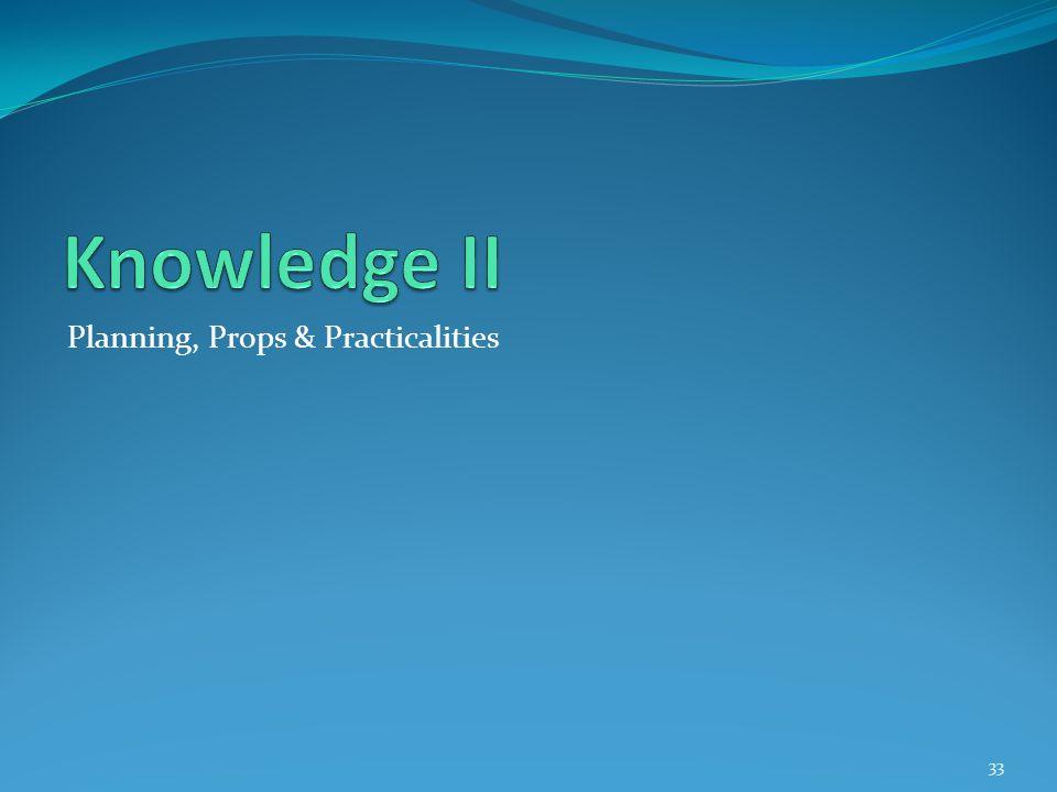 Planning, Props & Practicalities 33