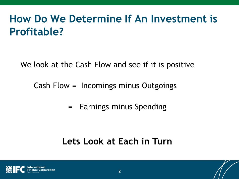 How Do We Determine If An Investment is Profitable.