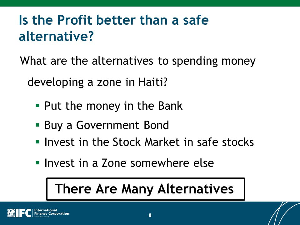 Is the Profit better than a safe alternative.