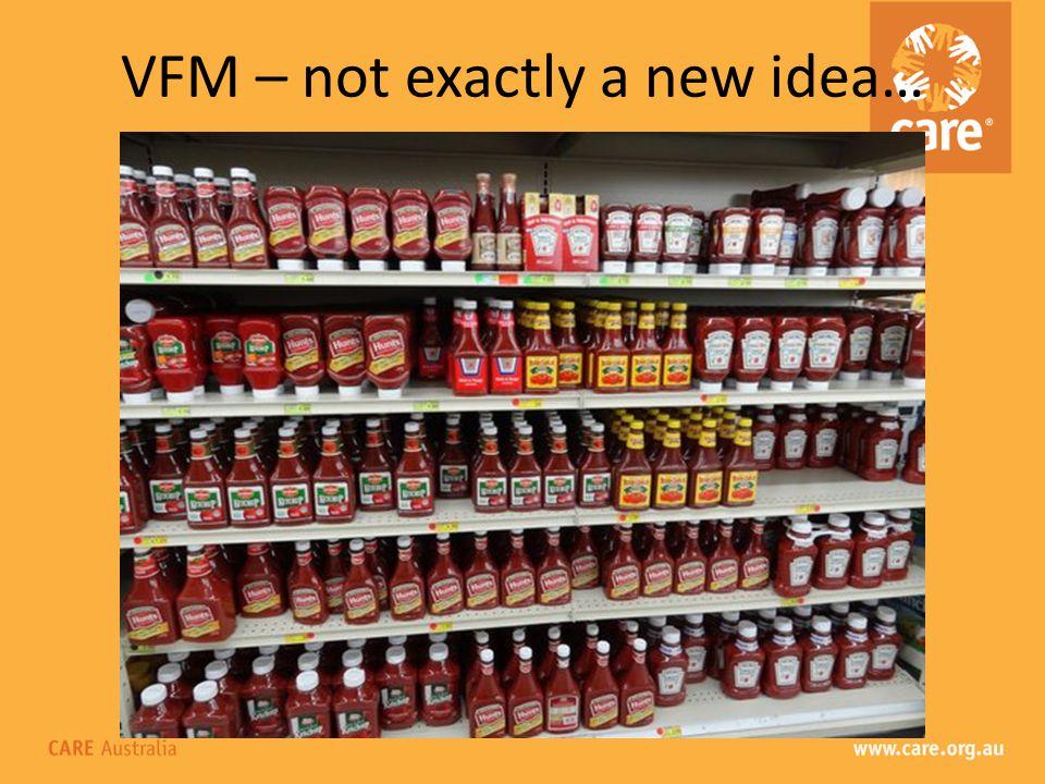 Emerging principles around VFM.