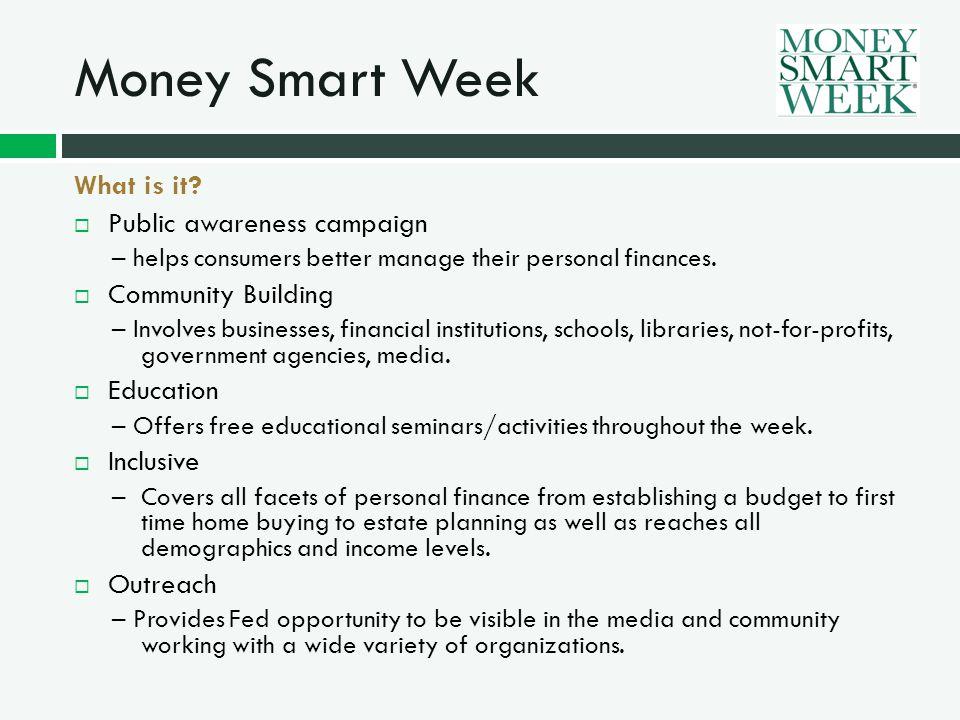 Money Smart Week How did it get started.