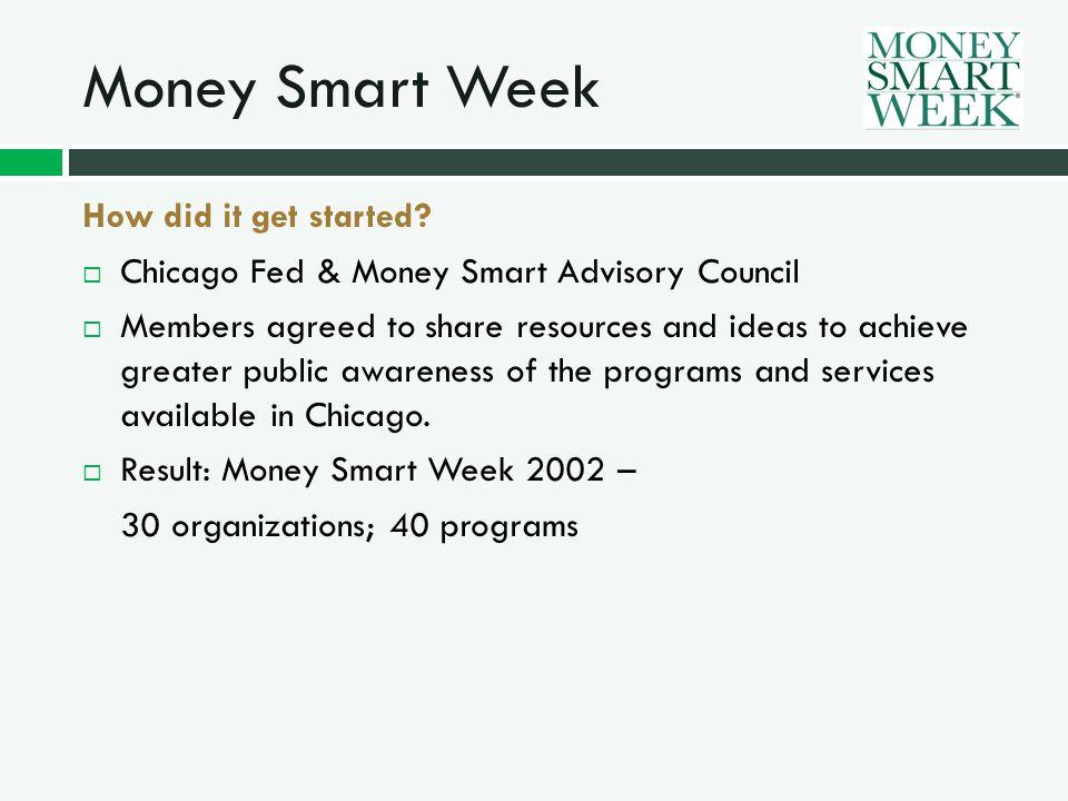 Money Smart Week Why it works.