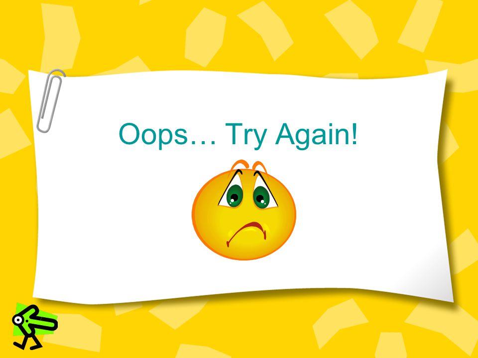 Oops… Try Again!