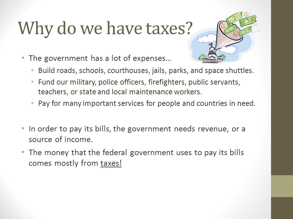 Where Does the Governments Money Come From.