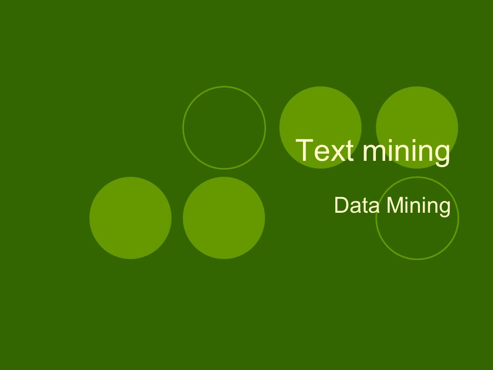 Text mining Data Mining