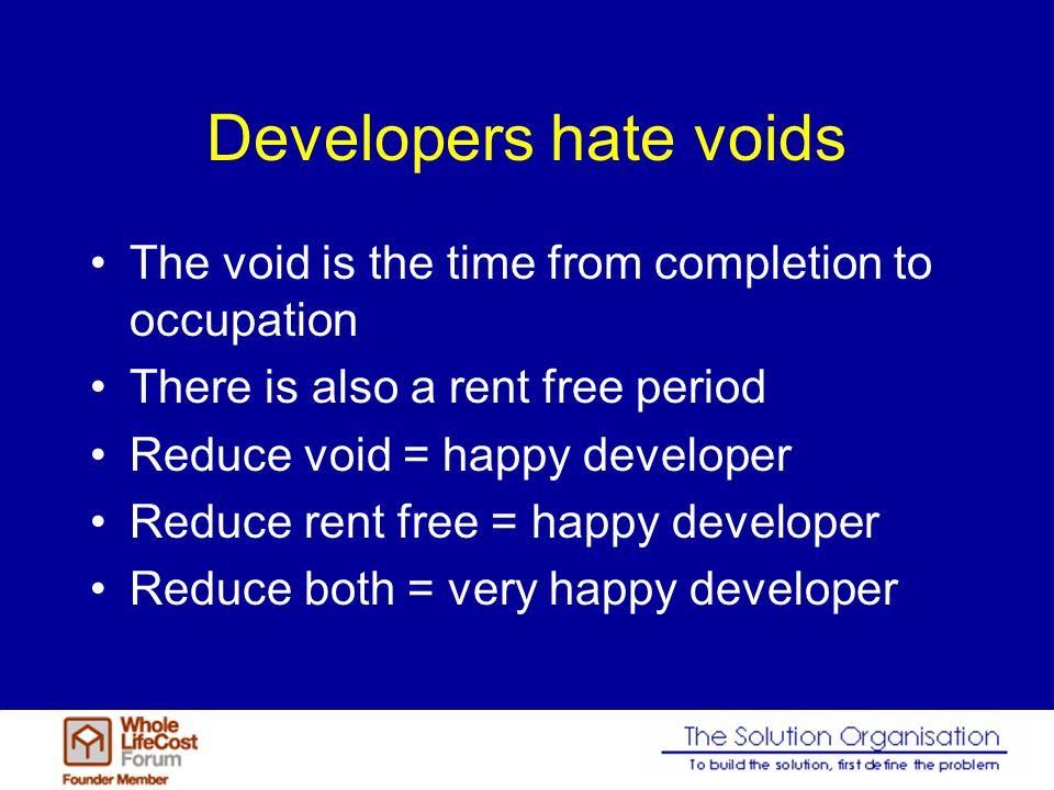 Ecstatic developer Decrease Yield Reduce void Reduce rent free
