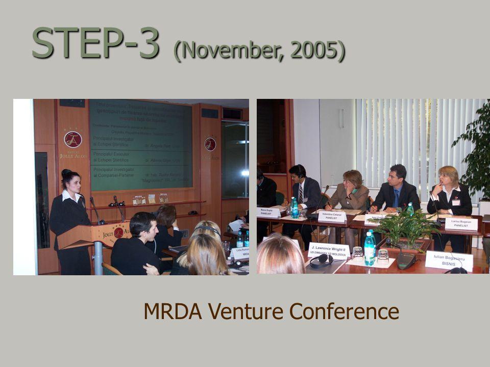 MRDA Venture Conference STEP-3 (November, 2005)