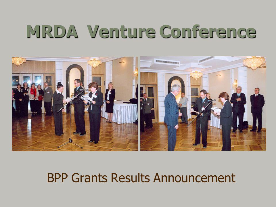 MRDA Venture Conference BPP Grants Results Announcement