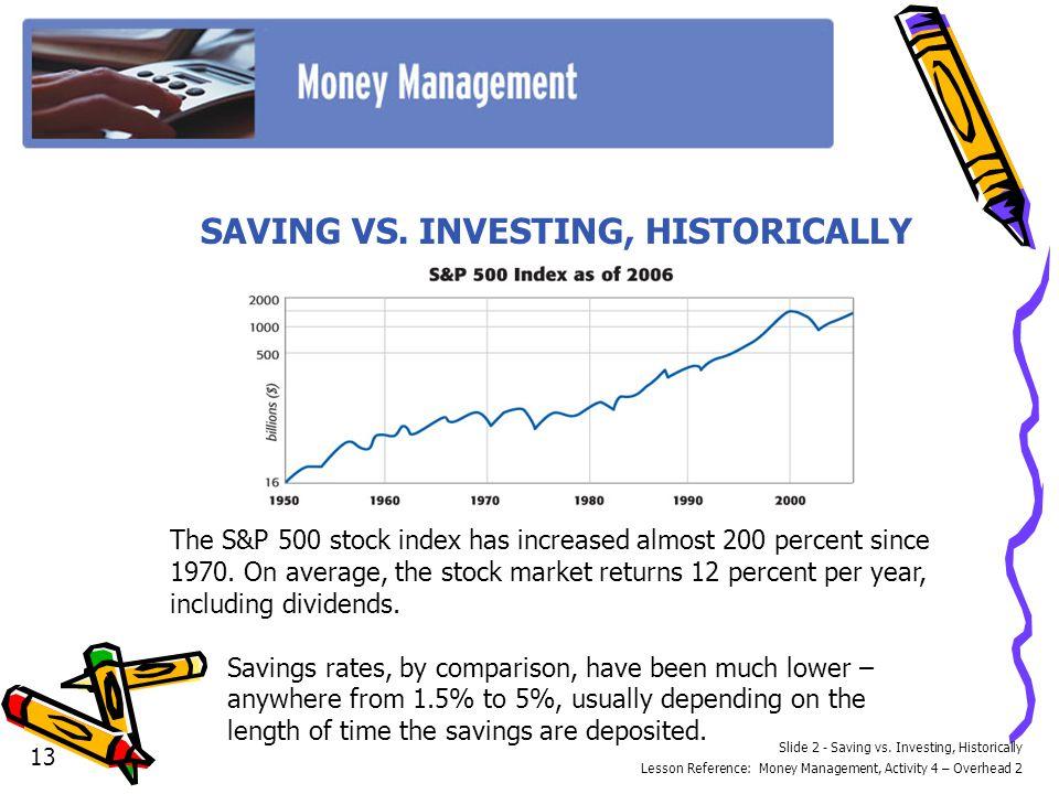 Slide 2 - Saving vs.