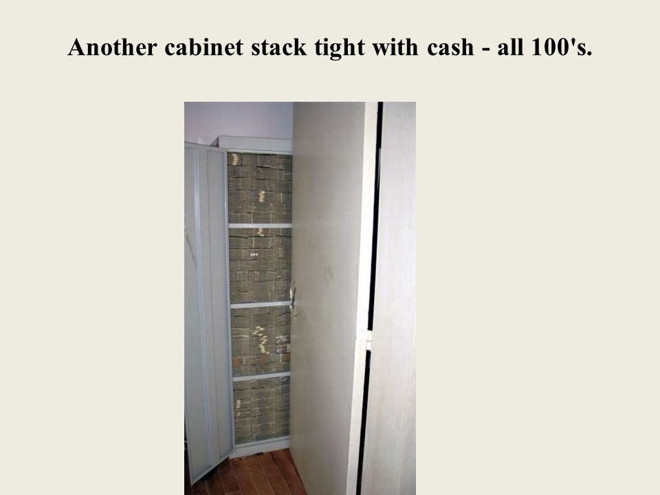 Another cabinet stack tight with cash - all 100 s.