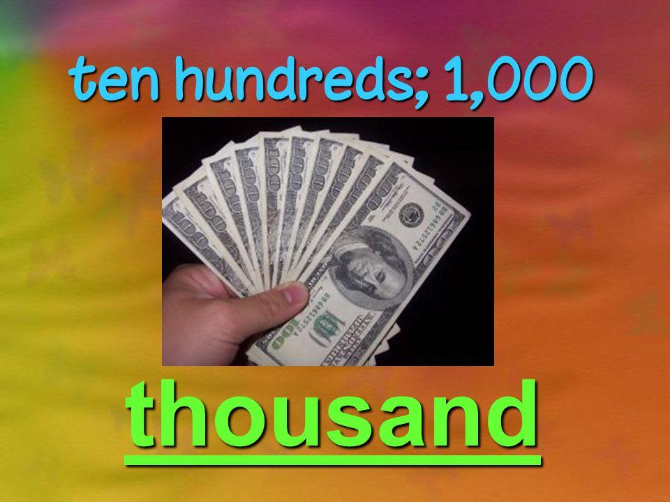 one thousand thousands; 1,000,000 million A million dollars in twenty dollar bills cerberusblog.wordpress.com/