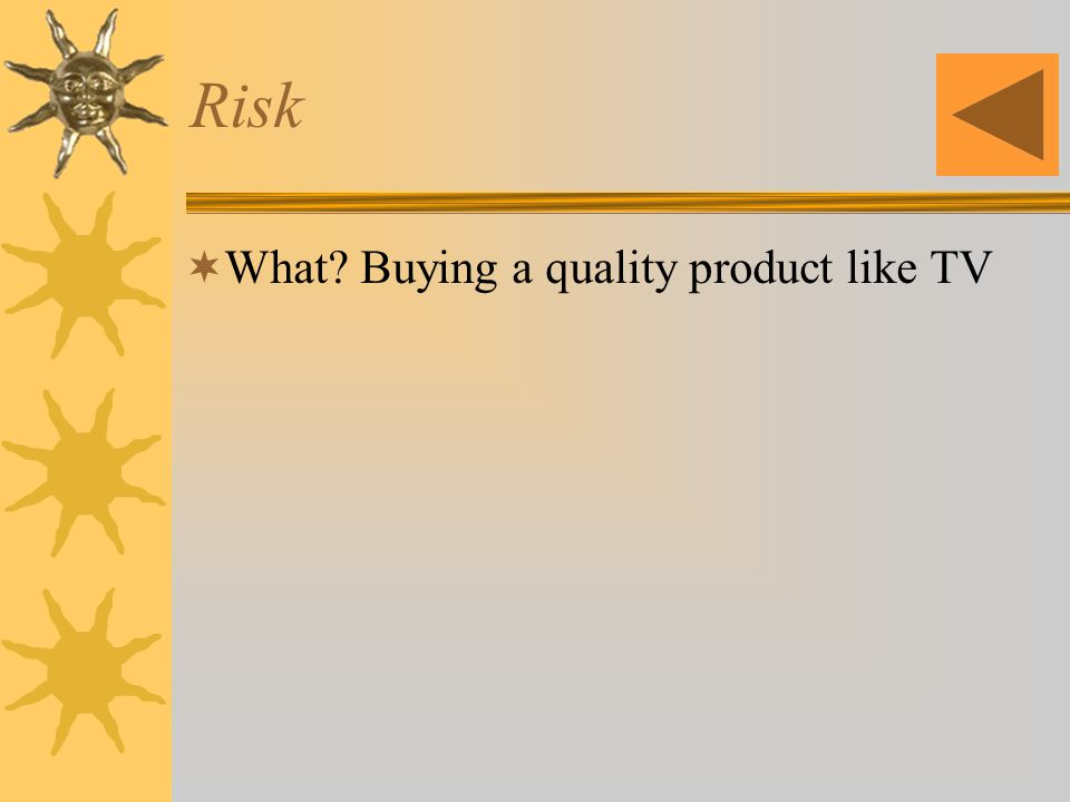 Risk What Buying a quality product like TV