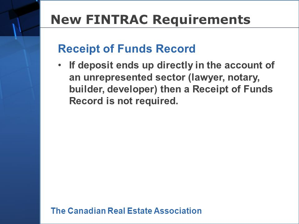 The Canadian Real Estate Association reflects money handled by real estate practitioner in transaction, NOT total value of the transaction; Must be co