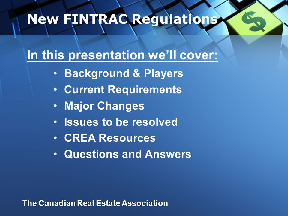 The New Anti-Money Laundering Regulations The Canadian Real Estate Association