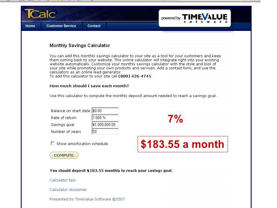 7% $183.55 a month