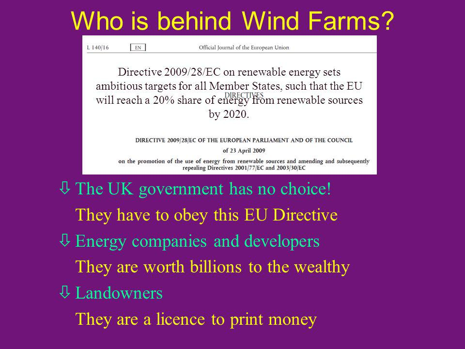 Who is behind Wind Farms. òThe UK government has no choice.