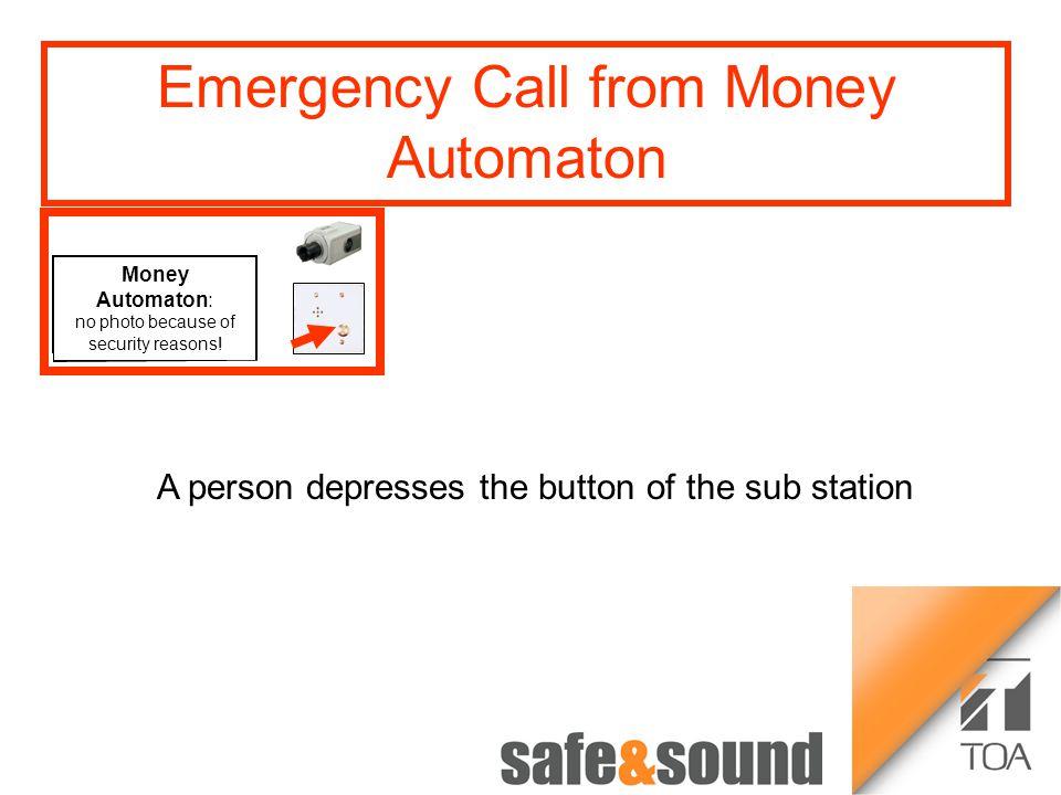 Bild Aufzug Money Automaton: no photo because of security reasons! 12 34 Time-lapse Recorder VS-900 Money Automat Emergency Call from Elevator: The Em