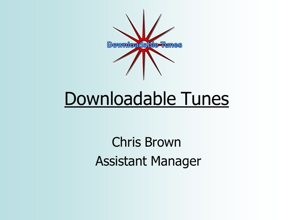 Downloadable Tunes Chris Brown Assistant Manager