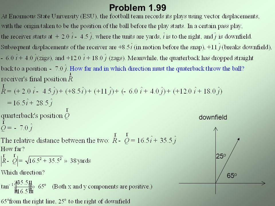 Problem 1.99 65 o 25 o downfield