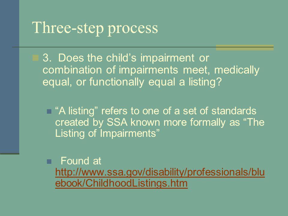 Three-step process 3.