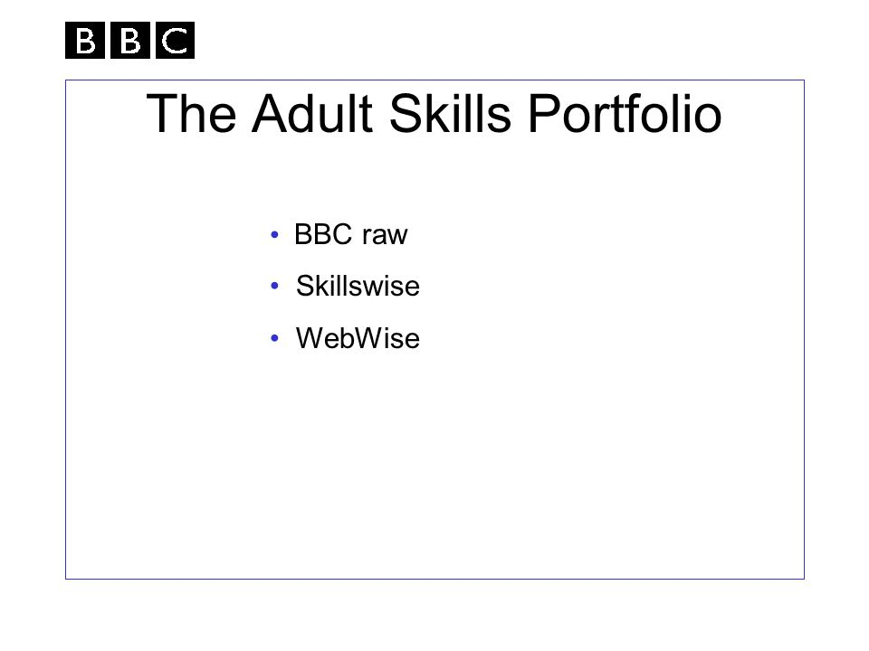 The Adult Skills Portfolio BBC raw Skillswise WebWise