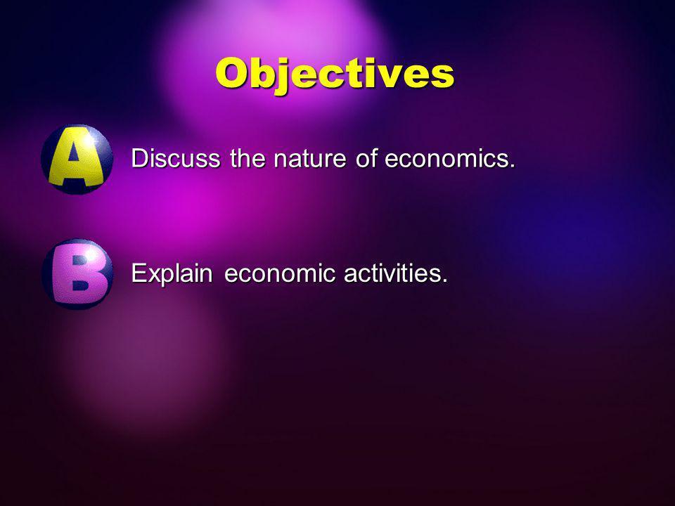 Economics LAP 6 Are You Satisfied? Economics and Economic Activities