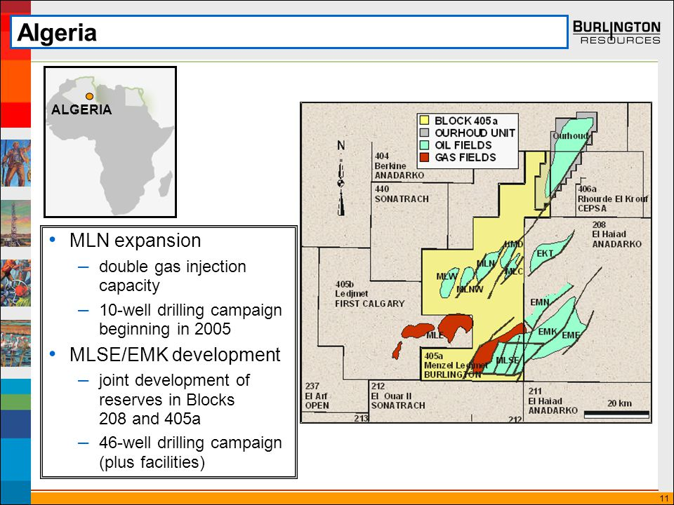 11 Algeria MLN expansion – double gas injection capacity – 10-well drilling campaign beginning in 2005 MLSE/EMK development – joint development of reserves in Blocks 208 and 405a – 46-well drilling campaign (plus facilities) ALGERIA