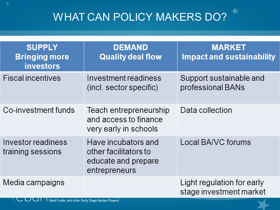 8 WHAT CAN POLICY MAKERS DO.