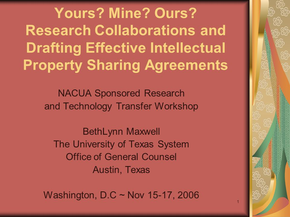 2 Effective Intellectual Property Sharing Agreements Inter-Institutional Agreements and Material Transfer Agreements