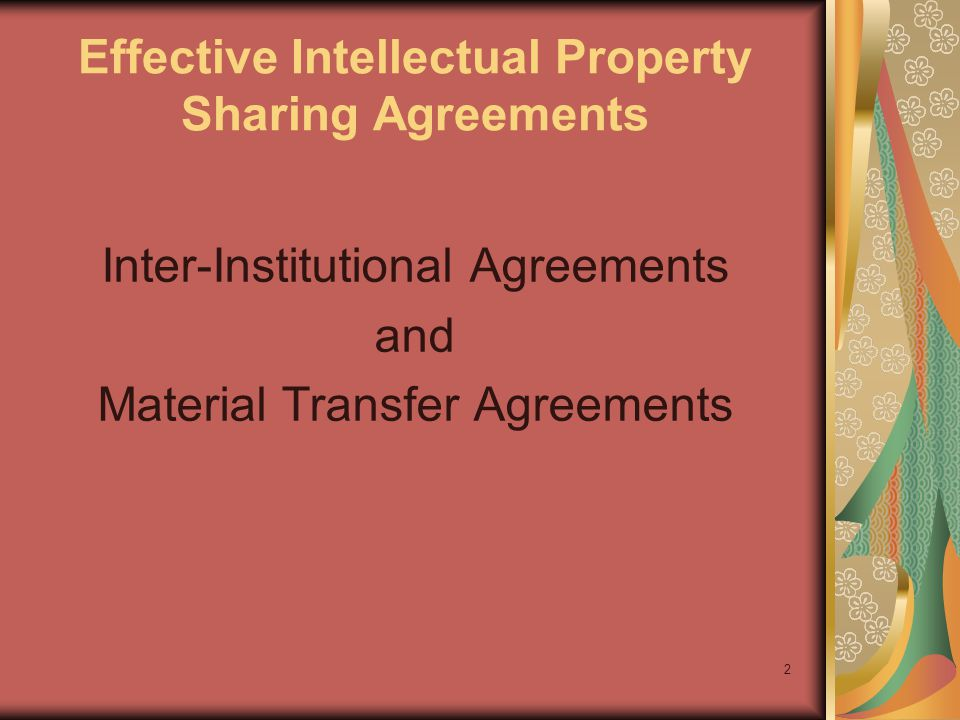 3 Inter-Institutional Agreement