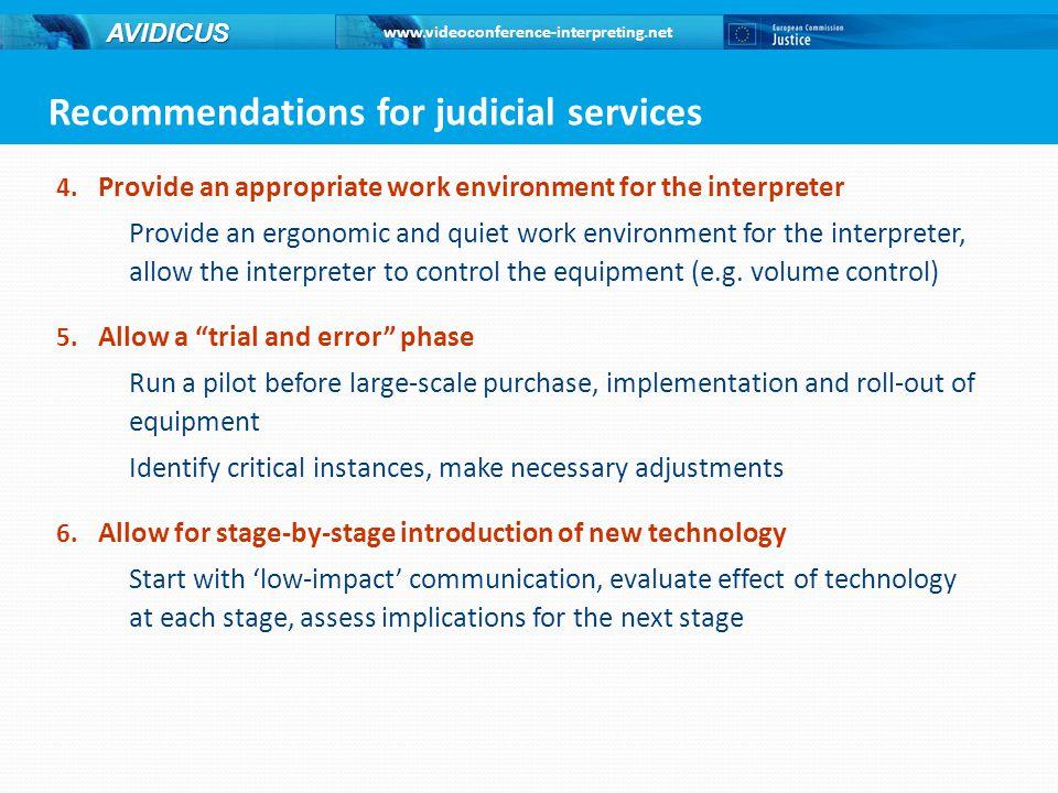 www.videoconference-interpreting.net AVIDICUS 4.