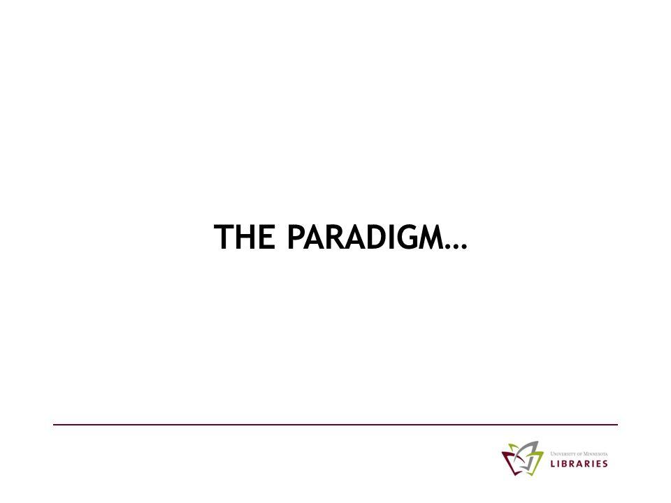 THE PARADIGM…