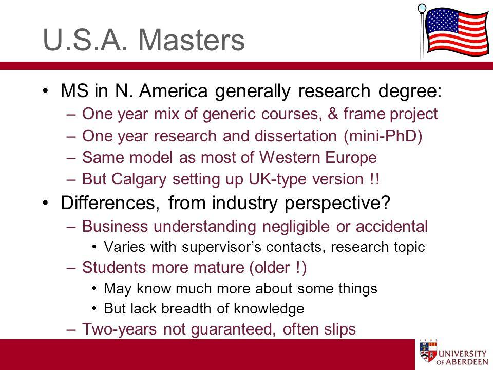 U.S.A. Masters MS in N.