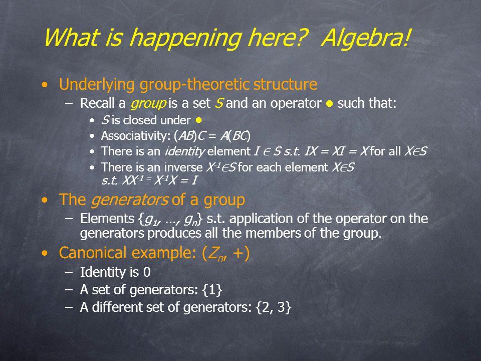 What is happening here. Algebra.