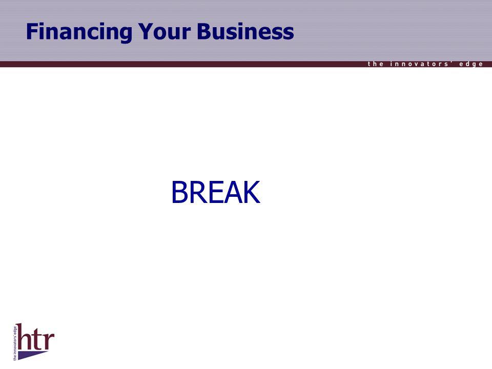 Financing Your Business BREAK