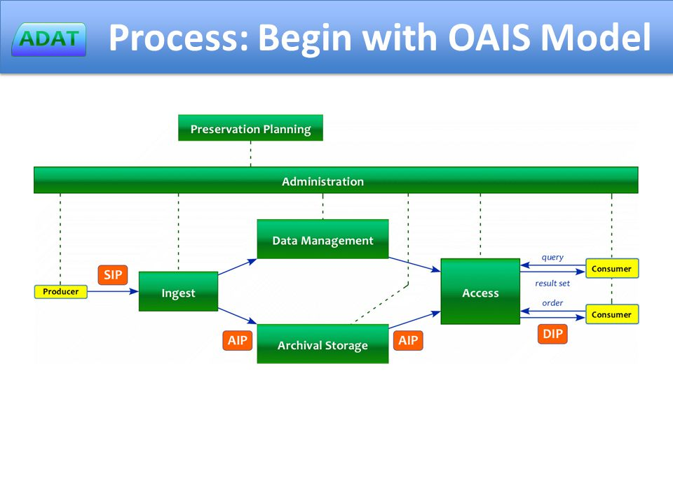 Process: Begin with OAIS Model