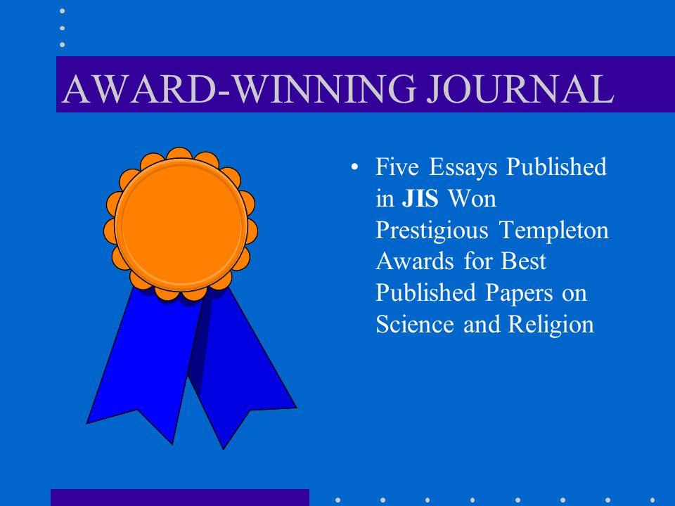 JIS MERIT AWARDS JIS Merit Awards include: Oleg Zinam Award for Best Essay David Morsey Award for Best Biblical Exegesis