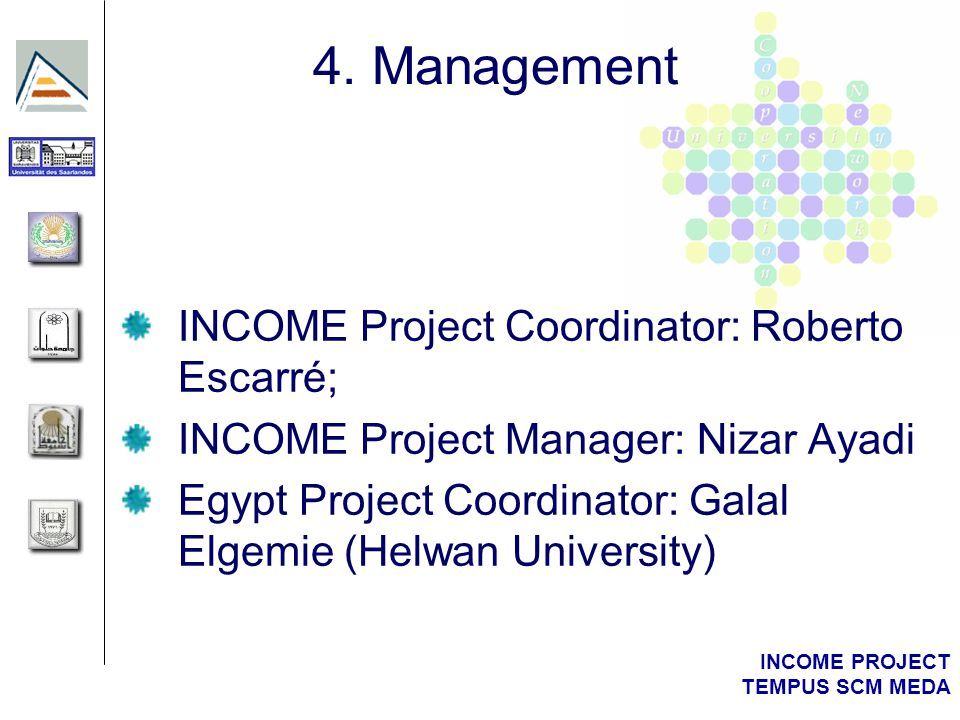 INCOME PROJECT TEMPUS SCM MEDA 4.