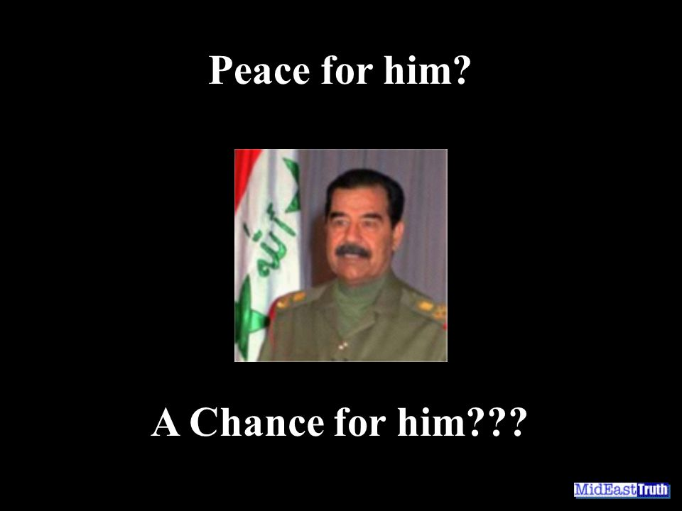 Peace for him A Chance for him