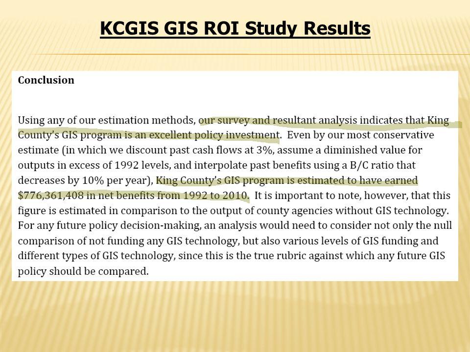 KCGIS GIS ROI Study Results