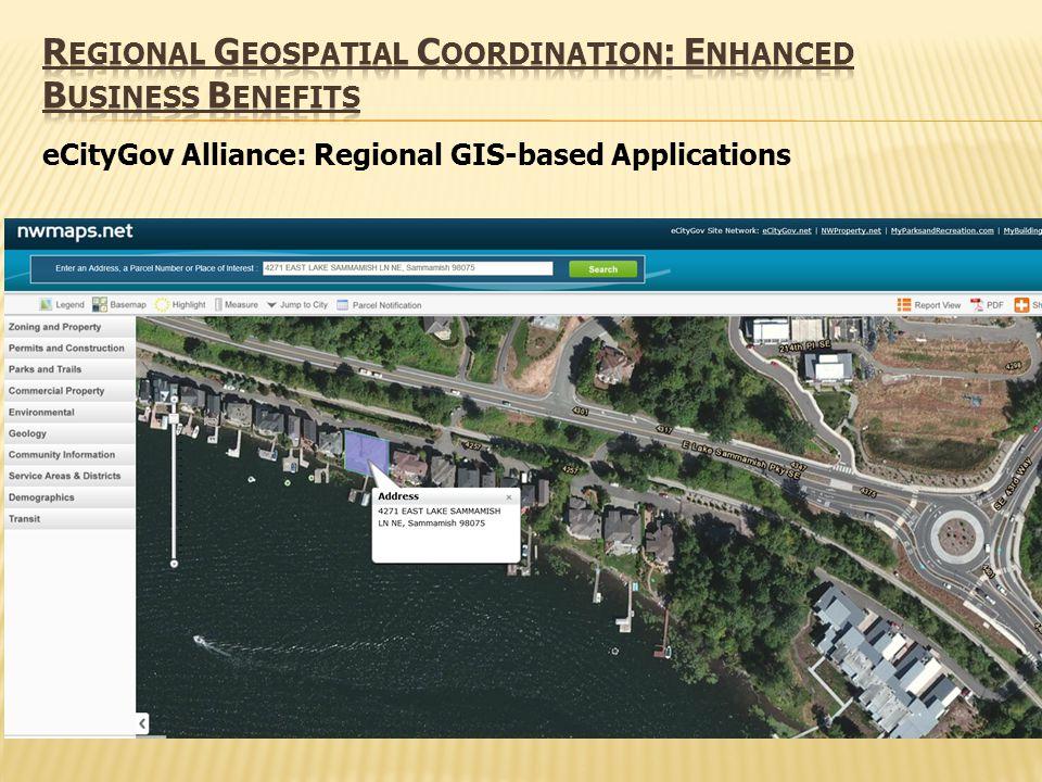 eCityGov Alliance: Regional GIS-based Applications