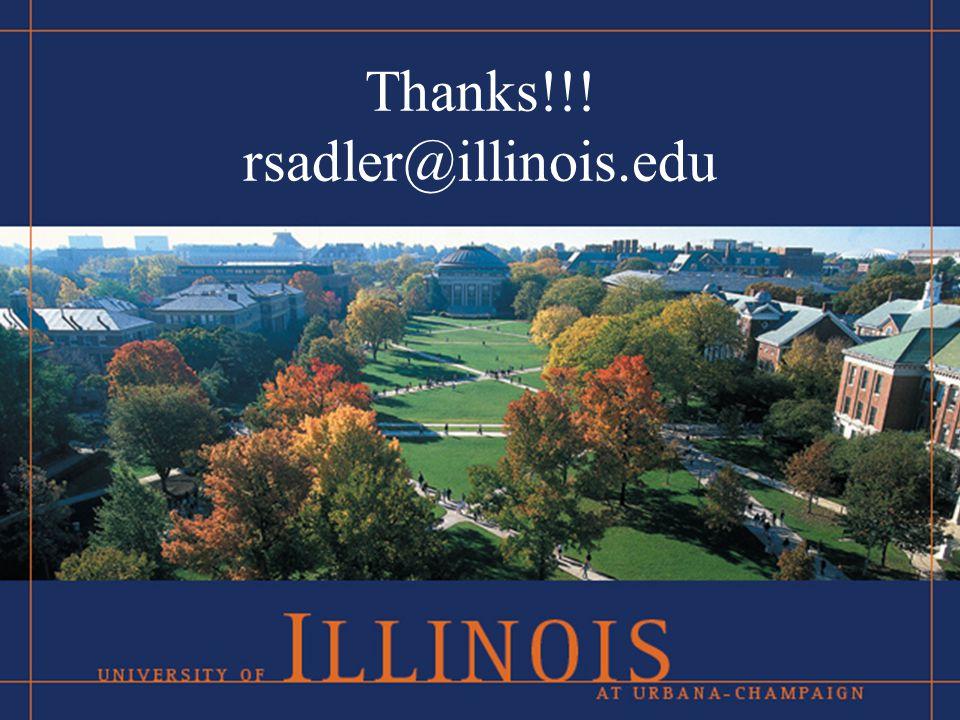 Thanks!!! rsadler@illinois.edu