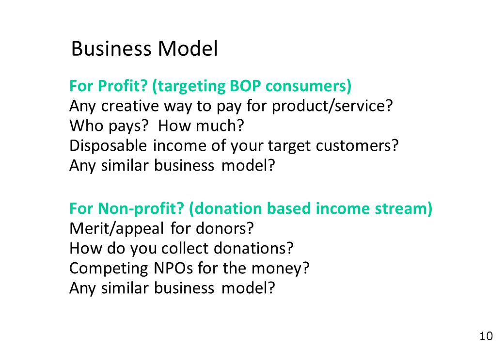 10 Business Model For Profit.