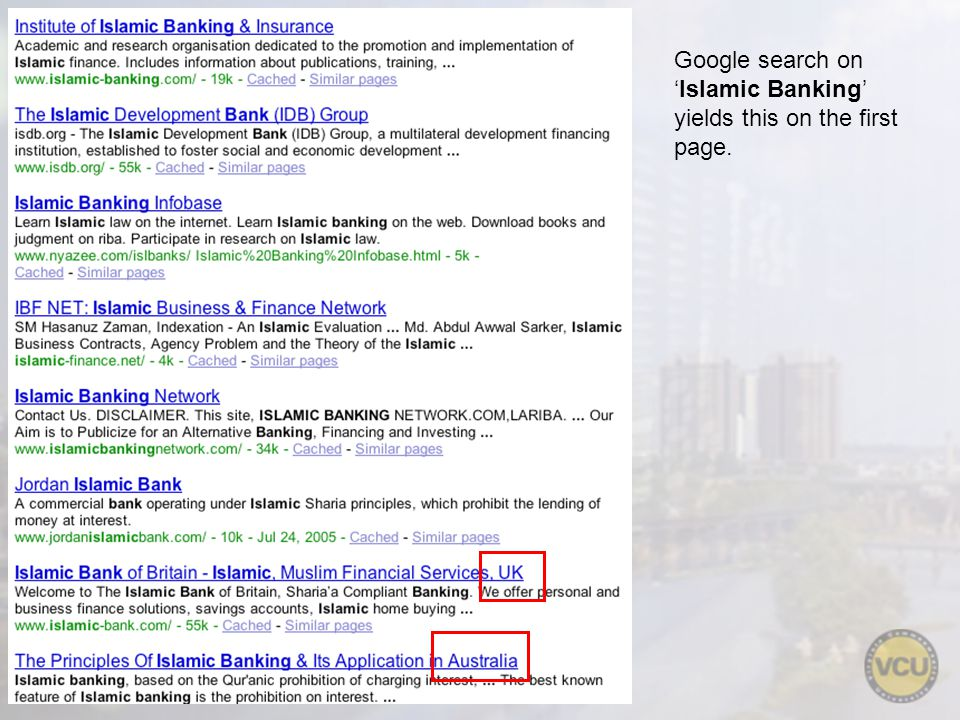 Google search onIslamic Banking yields this on the first page.
