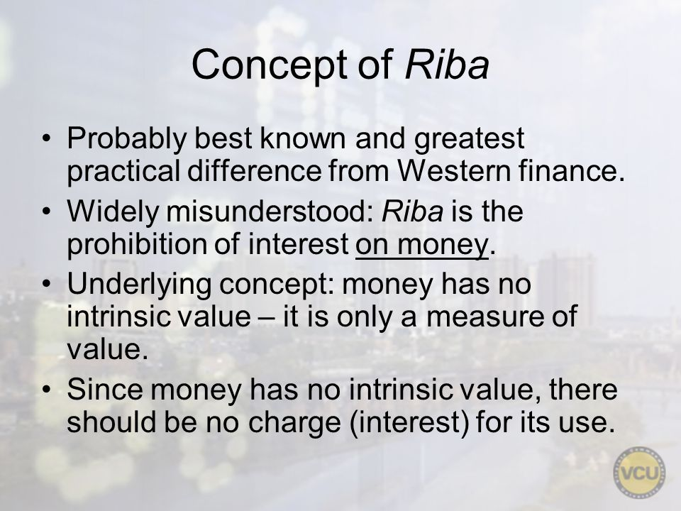 Concept of Riba IMPORTANT.Riba is interest on money only!.
