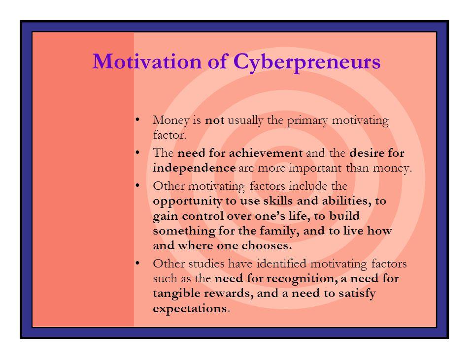 Traits of Cyberpreneurs 1.