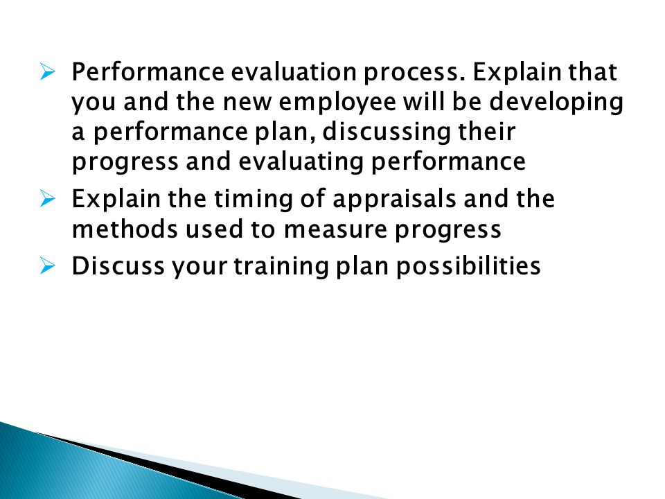 Performance evaluation process.